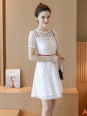 Đầm suông ren tròn Ori thời trang