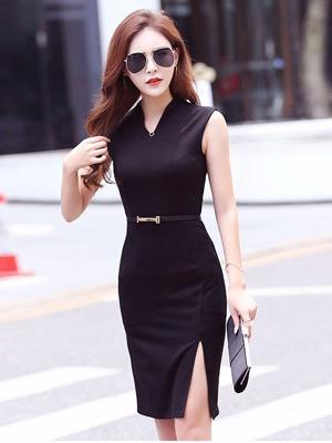 Đầm dạo phố cao cấp xẻ tà YiYi