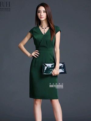 Đầm công sở cao cấp Green