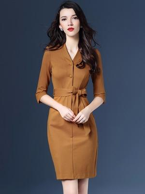 Đầm công sở cao cấp thắt eo phong cách hàn quốc